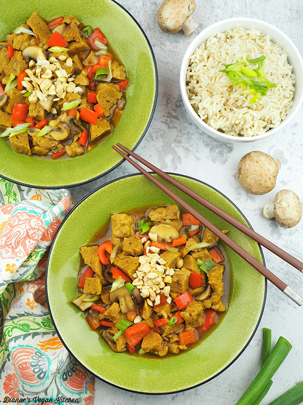 Kung Pao from The Vegan Slow Cooker by Kathy Hester