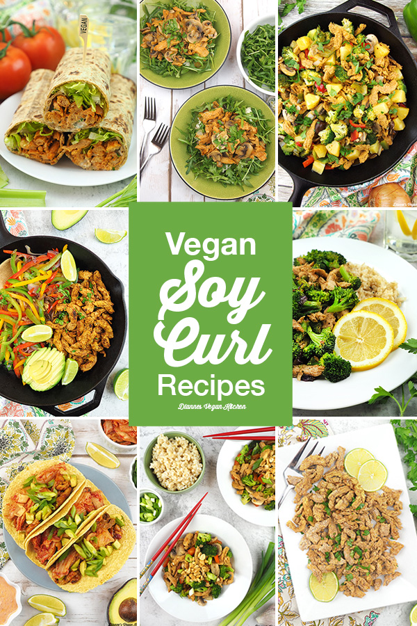 Soy Curl Recipes Collage