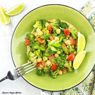 Coconut-Peanut Butter Chickpea and Broccoli Stir-Fry square