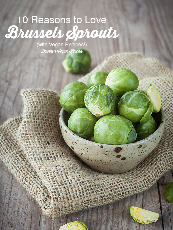 health benefits of brussels sprouts with text overlay