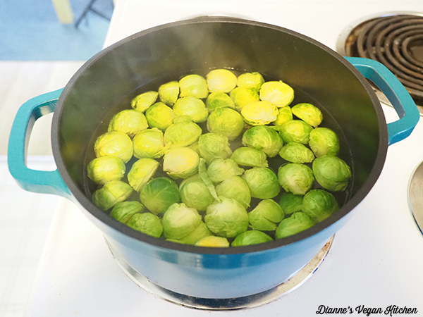 Blanching Brussels Sprouts