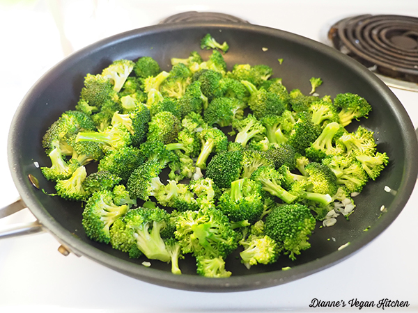 Cooking broccoli for the frittata