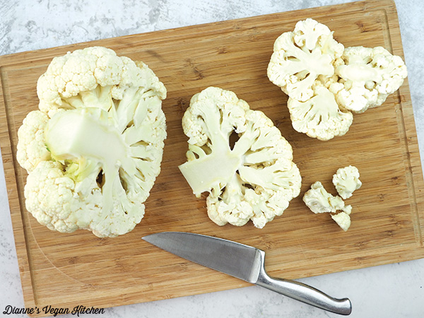 Cutting Cauliflower