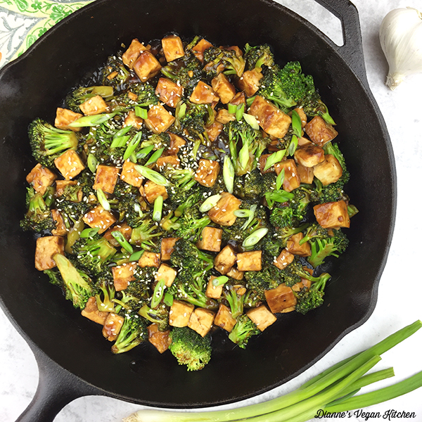 tofu teriyaki in pan square