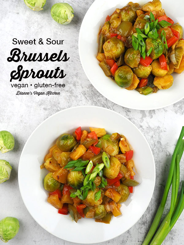 Your favorite takeout meal gets a healthy makeover in this Sweet and Sour Brussels Sprouts recipe. This easy to make dinner dish is perfect for busy weeknights. It's vegan and gluten-free.