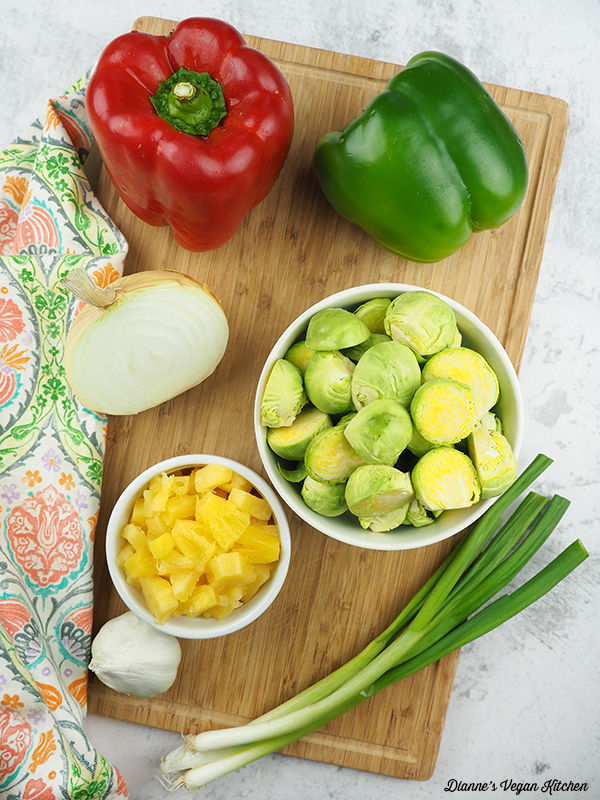 Sweet and Sour Brussels Sprouts ingredients