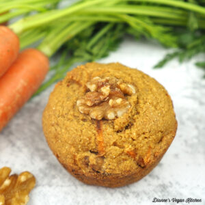 Vegan Carrot Cake Muffin square