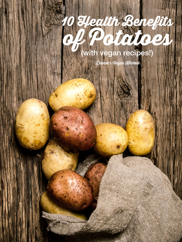potatoes in sack with text overlay