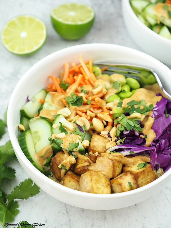 quinoa salad close up