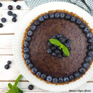 Raw Vegan Blueberry Pie from above square