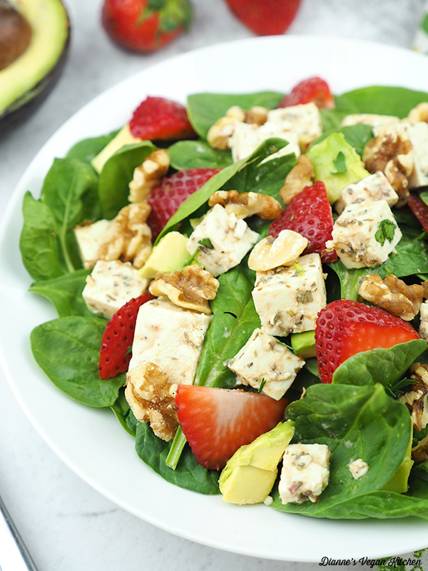 spinach salad close up