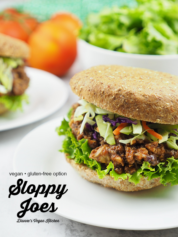 Vegan Sloppy Joe with Text Overlay