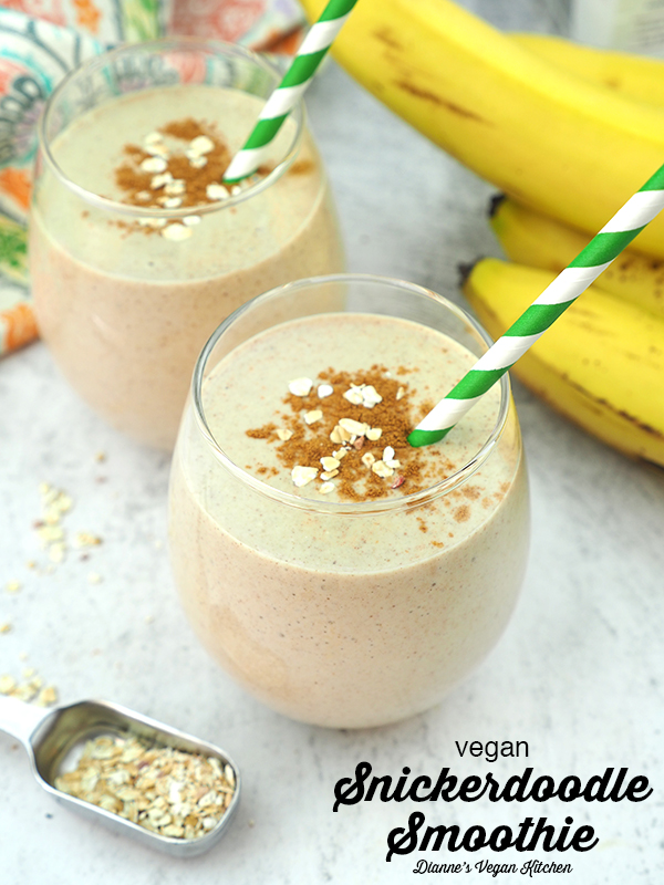 snicker doodle smoothie with text overlay