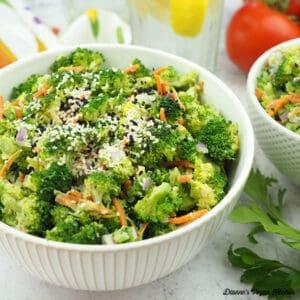 Broccoli salad in bowls square