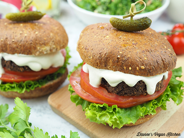 black bean burgers horizontal