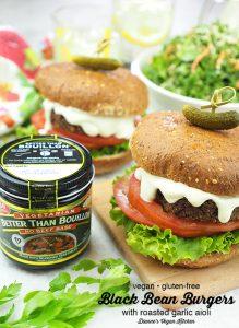 Black Bean Burger with Bouillon Pin