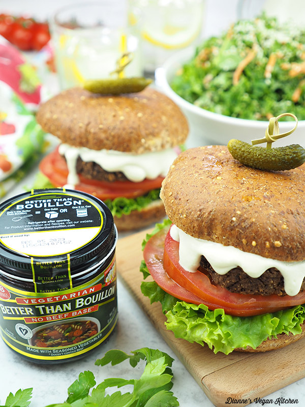 burgers with Better Than Bouillon No Beef Base