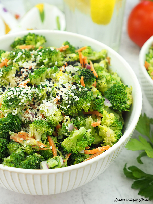 Broccoli Slaw in large bowl