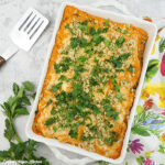 Buffalo Chicken Lasagna in pan square