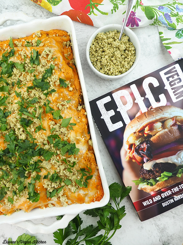 Buffalo Chicken Lasagna with Epic Vegan