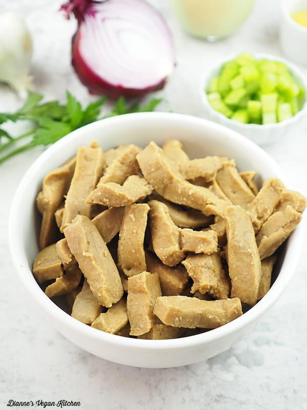 bowl of seitan