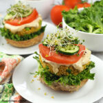 quinoa burgers on buns square