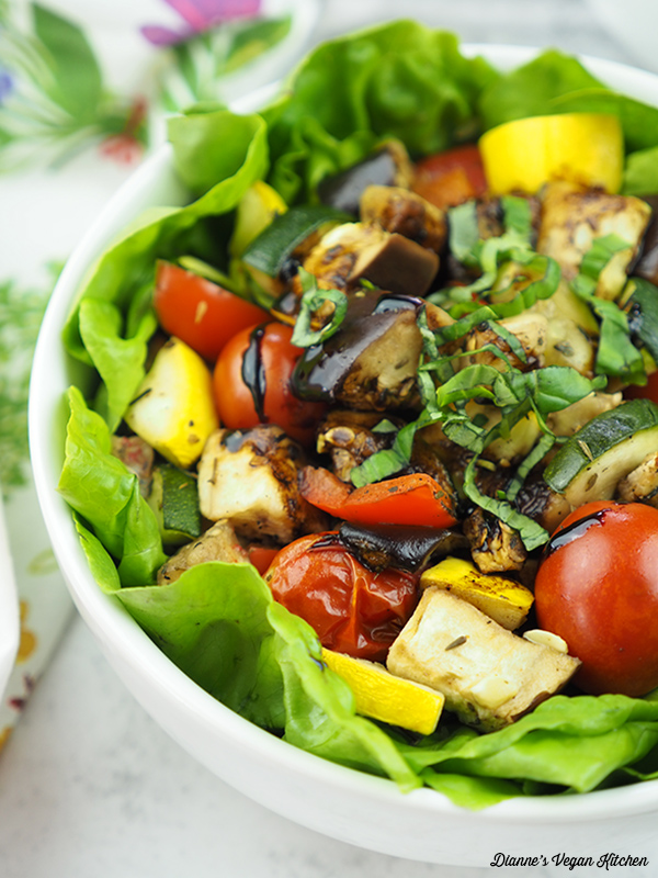 close up of Roasted Ratatouille Salad