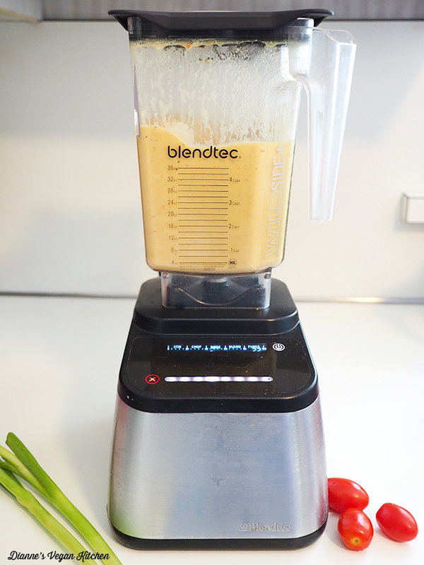 vegan cheese sauce in blender