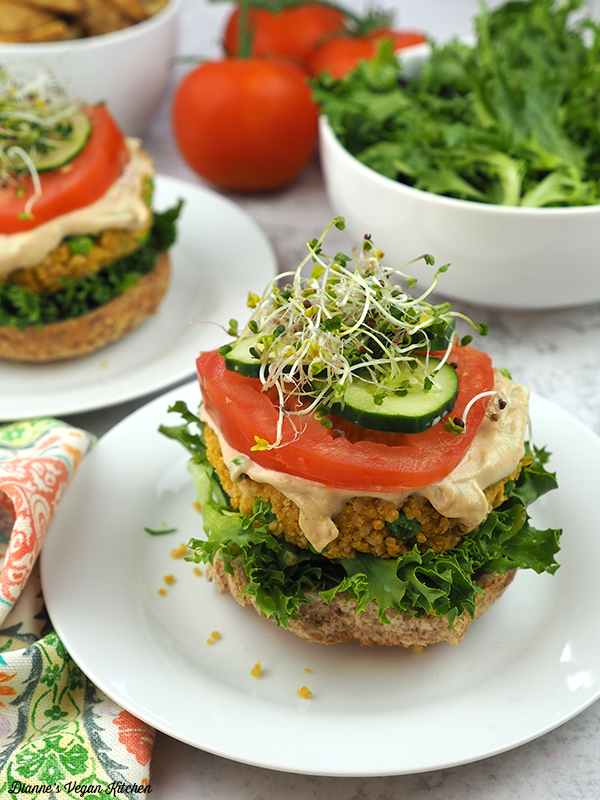 quinoa brugers on buns
