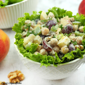 VeganSmall Bowl of Chickpea Waldorf Salad squire