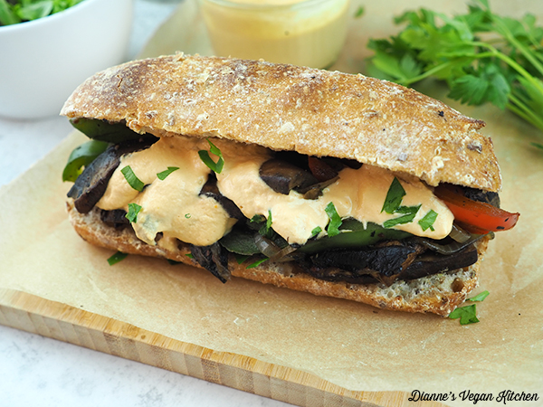 vegan cheesesteak horizontal