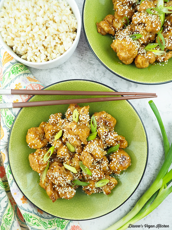 Sesame Cauliflower from above
