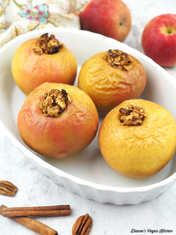 baked apples in a dish