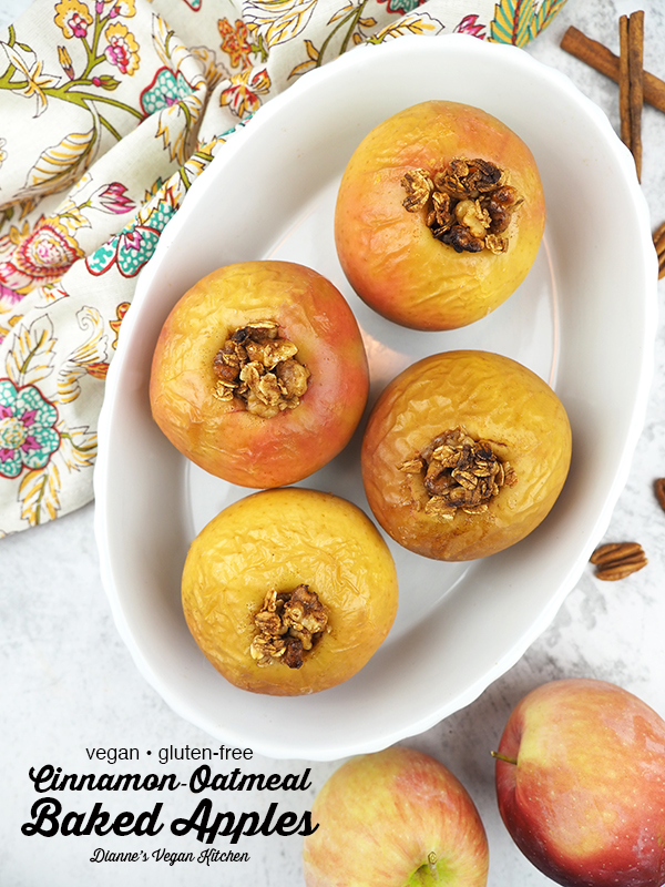 baked apples with text overlay