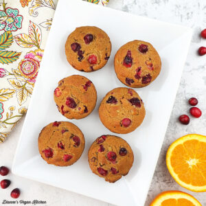 muffins on platter overhead square