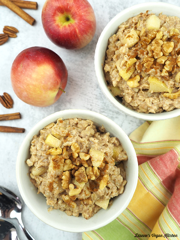 bowls of oatmeal from above