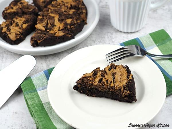 Brownie slice horizontal