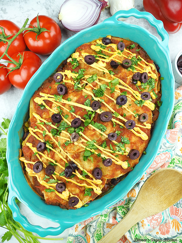 Vegan Mexican Lasagna from above