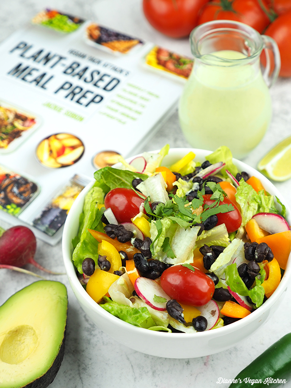 salad with book