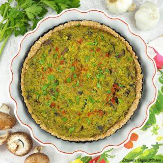 quiche in dish square