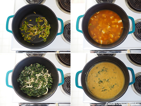 making soup collage