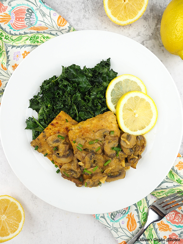 tempeh with lemons
