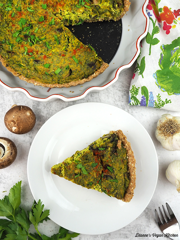 slice of quiche from above