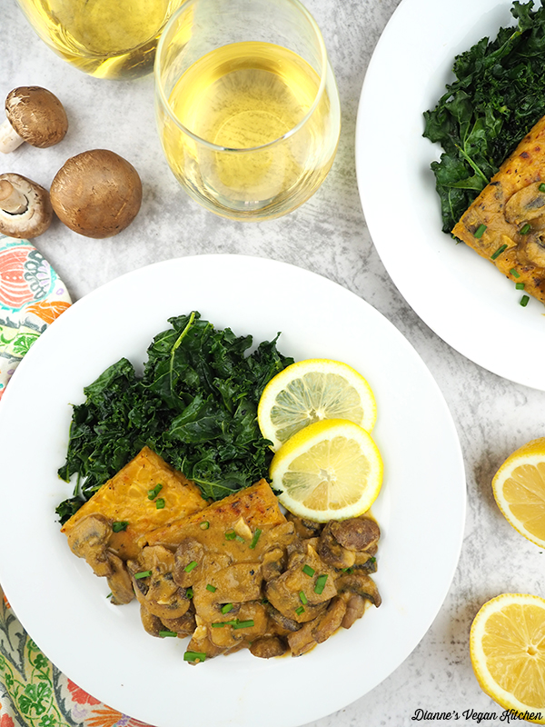 Lemon-Dijon Tempeh and Mushrooms