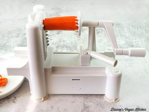 carrot in spiralizer