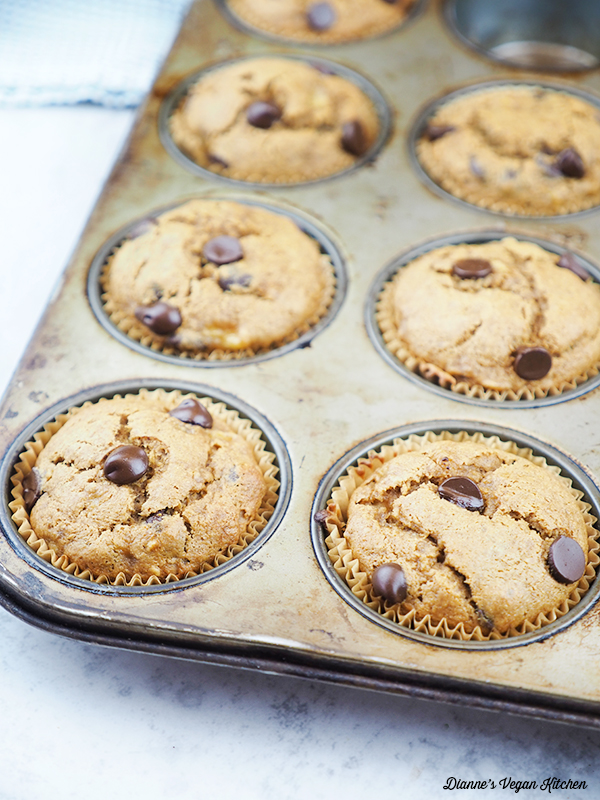 close up of muffins in baking tin