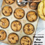 muffins in baking tin with text overlay