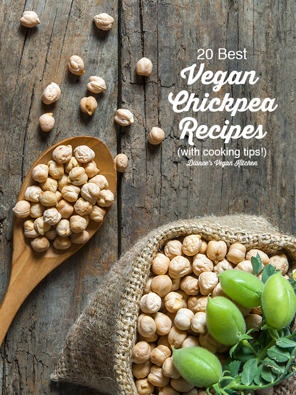 20 Best Vegan Chickpea Recipes text overlay
