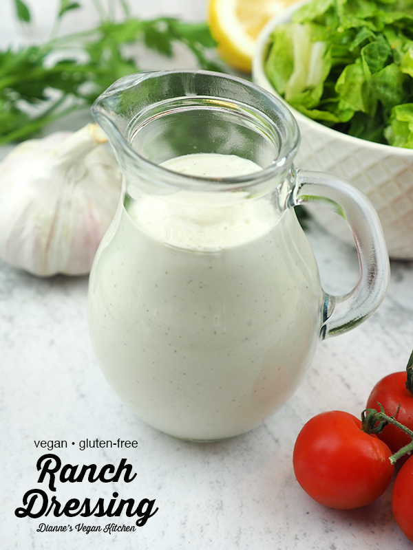 Vegan Ranch Dressing with text overlay