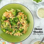 Tahini Noodles with text overlay